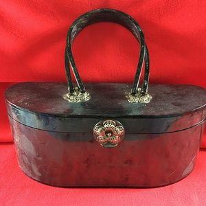 Vintage Gray Lucite Handbag